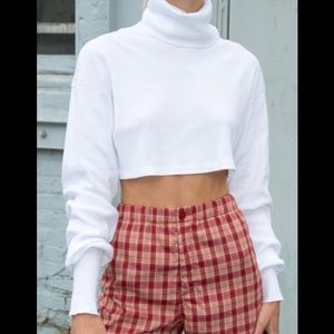 Brandy Melville White Angela Turtleneck top